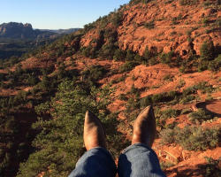 Sedona AZ,,, boots like travel.