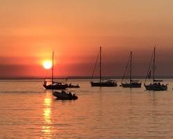 Sunset Totland Bay, Isle of Wight July 2020