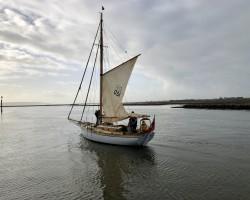 Pretty little gaff-rigged boat