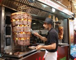 Turkish Doner with vegetables - Bodrum, Turkey