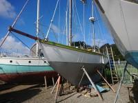 "Repairing ""Weir"" Auxillary Bermudan cutter rigged Ketch"