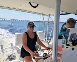 Bringing a Sportfish back from her Dorian evacuation