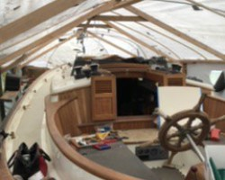 On the tail end of rebuilding this boat, had to remove/rebuild the decks and cabin because of rot