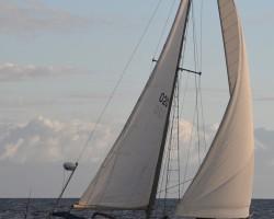 Sailing off Kona coast