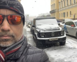 A cold day in St. Petersburg, Russia