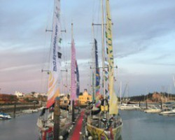 Clipper Round the World Sailboats in Portimão, Portugal. September 2019