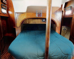 Aft Master Cabin looking to the Starboard with the Shower and Head