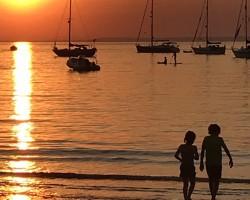 Sunset Totland Bay July 2020