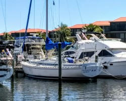 Sitting pretty at Burnt Store Marina, Punta Gorda FL, our winter retreat........for now.