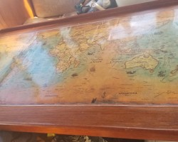 New map for the table - it shows all the tradewinds around the world. I will be pouring a good layer of epoxy on it once 20c shows itself again this summer!
