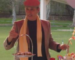 Me giving speech at Daughter's 21st High Tea