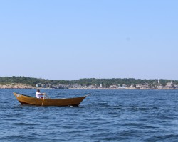 Rowing the Blackburn Challenge 7/2019. 23 Miles in the open water circumnavigating Gloucester MA.