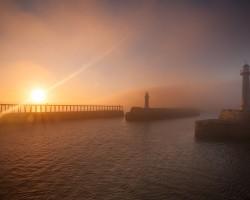 Foggy dawn Whitby