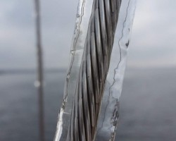 Ice storm in North Carolina, singlehanding back from the Florida Keys.  Came back a bit too early!
