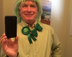 Irish roots,,, St Patty's Day wearing my grand dad's bow tie.