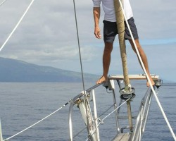 Coming into the Azores.  My first Atlantic crossing