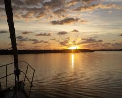 Sunrise in Tarpon Basin, Key Largo.