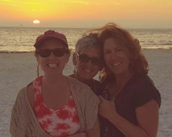 With 2 of my (5) sisters. Ft Myers Beach.