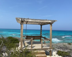 The best little swing in the Bahamas. Highbourne Cay, April 2020