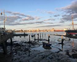 Breaking dawn over Portsmouth Historic Docks