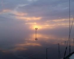 Intracoastal Waterway, tranquil fog.