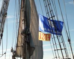 Aboard the tops'l schooner SULTANA in Baltimore during the Star Spangled 200 celebration in 2014.