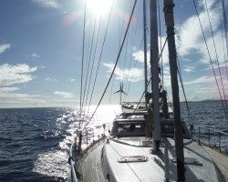 AMELIT April 2019 motoring to ILE des PINS NEW CALEDONIA