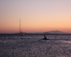 Sunset (Turkey) - Looking at The Island of Lesvos, Greece